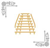 Oryginalna mozaika na schodach